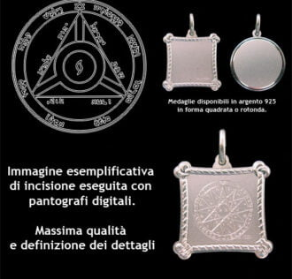 The fourth pentacle of Saturn - Silver 925