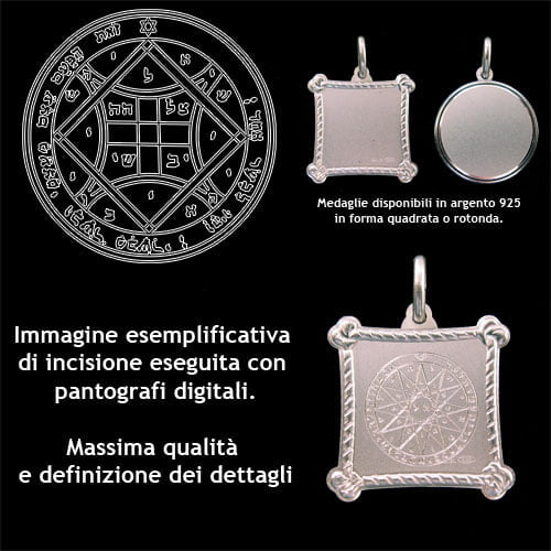 The fourth pentacle of Venus - Silver 925