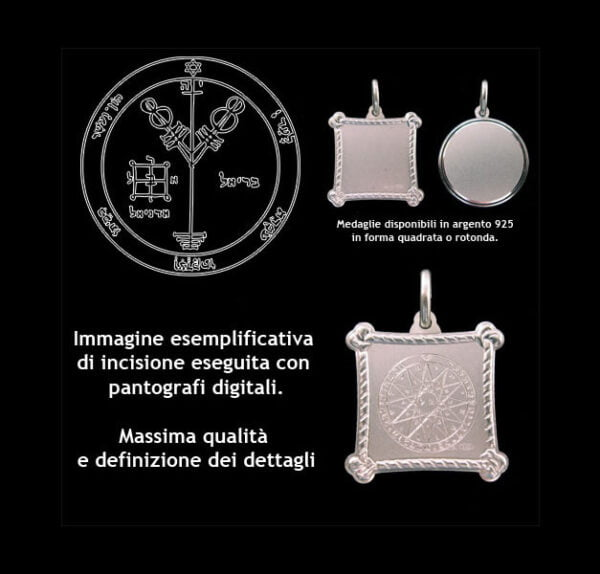 The Fourth pentacle of Jupiter - Silver 925
