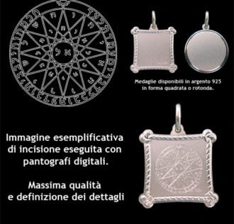 The fourth pentacle of Mercury - Silver 925 (Ebraico)