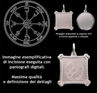 The fourth pentacle of the Sun - Silver 925