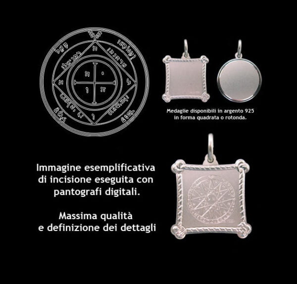 The Fifth pentacle of Saturn - Silver 925