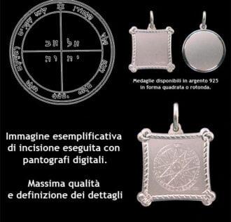 Il Quinto Pentacolo di Mercurio - Argento 925