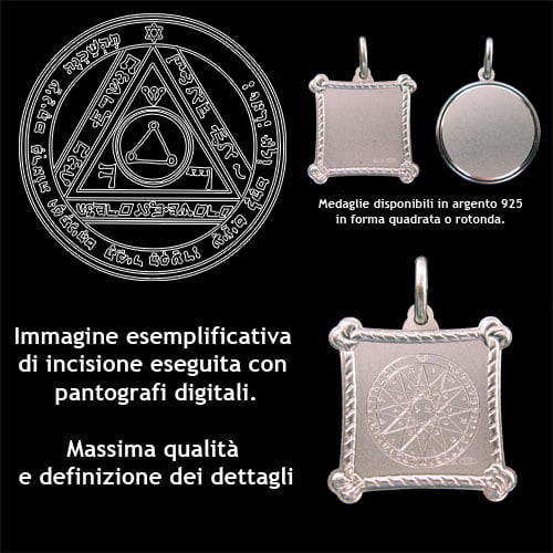 The sixt pentacle of the Sun - Silver 925