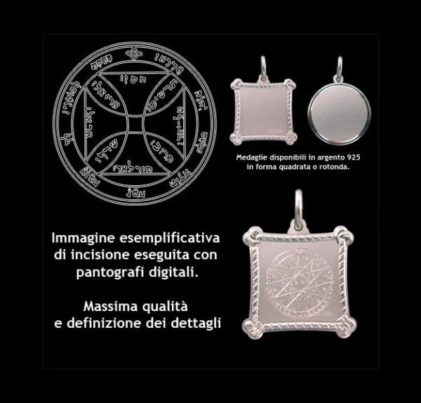 The seventh pentacle of the Sun - Silver 925