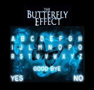 TAVOLA SEDUTA SPIRITICA THE BUTTERFLY EFFECT CM 29 X 29 + MINILIBRO + PLANCHETTE