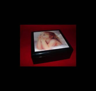 WOODEN BOX 18 CM X 18 X 8 COLOR BLACK DELUXE MODEL