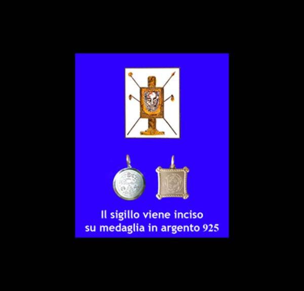 ABATE JULIO TALISMAN - FACE OF JESUS ' - SILVER 925 GR 3