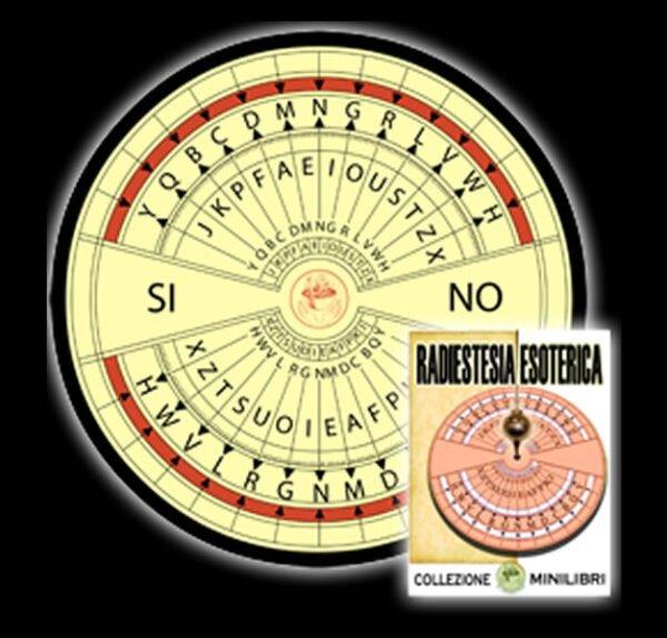 TAVOLA SEDUTA SPIRITICA PER PENDOLO CM 10 X 10 (FORMATO TASCABILE) + PENDOLO + MINILIBRO