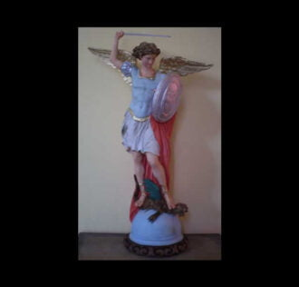 SAINT MICHAEL AND ARCHANGEL STATUE CM 80