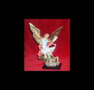 SAINT MICHAEL ARCHANGEL STATUE CM 30 DELUXE VERSION