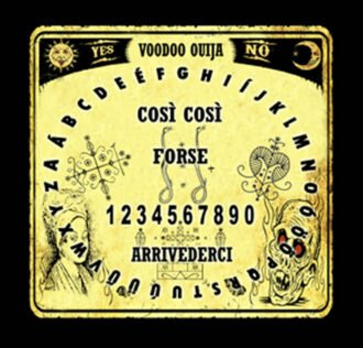 TAVOLA SEDUTA SPIRITICA VOODOO CM 29 X 29 ROUNDED + MINILIBRO + PLANCHETTE