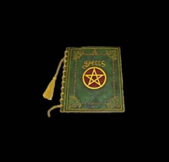 BOOK OF SHADOWS - GRIMORIO WITH  PENTACLE - GREEN COLOUR