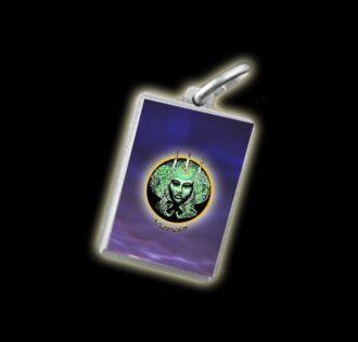 Medaglia - Immagine a colori DEA DELLE STREGHE -  argento 925