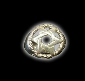 RING STAR OF DAVID SILVER 925 GR 13.1
