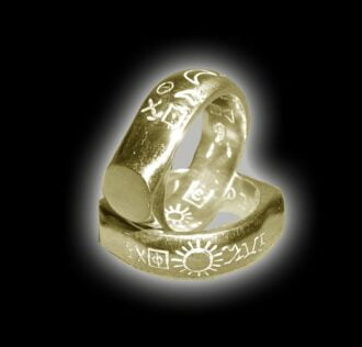 King Solomon's Ring - GOLD 18 KT WITH RUBIN AND DIAMOND GR 10.9