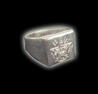 Anello Tetragrammaton argento 925 gr 10.6