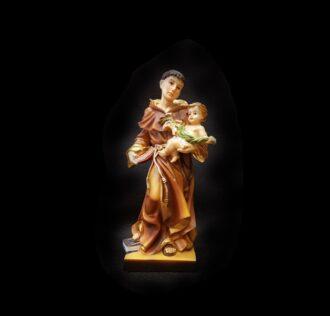 Plaster statue Sant Antonio da Padova CM 18 RESIN