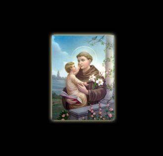Saint Anthony  - sublimation ON ALUMINUM 20 X 15 CM