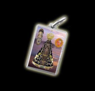 Medaglia - Immagine a colori APARECIDA -  argento 925