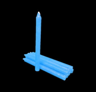 Light blue candle-Package 8 pcs 19 cm
