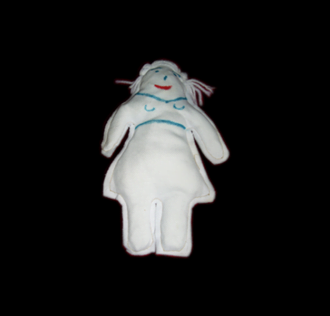 VOODOO DOLL - FEMALE WHITE CM 20