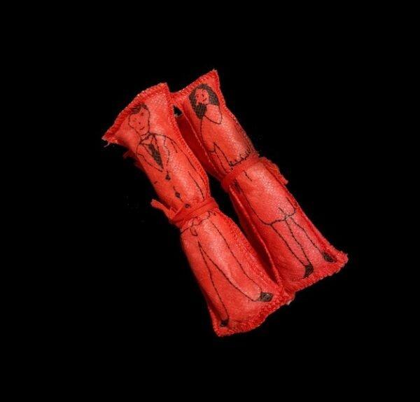 BAMBOLE VOODOO - UOMO/DONNA ROSSI CM 12