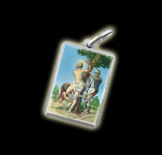 Medaglia - Immagine a colori SAN BARTOLOMEO -  argento 925