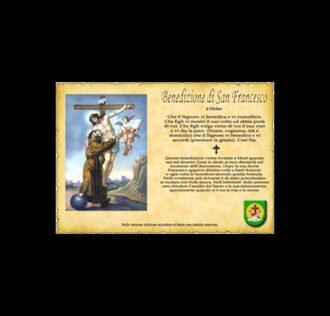 Benedizione di San Francesco - Pergamena