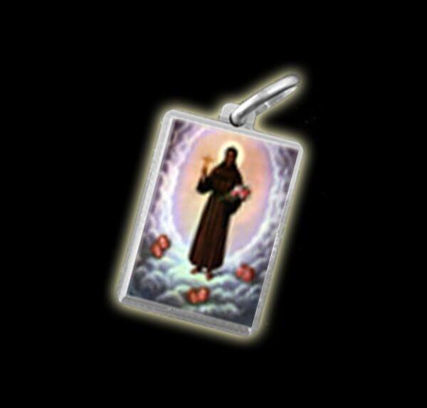 Medaglia - Immagine a colori SAN BENITO DI PALERMO (BENEDETTO IL MORO) -  argento 925