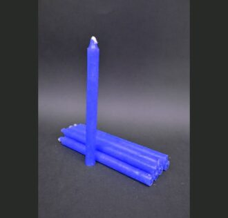 Blue candle-Package 8 pcs 19 cm