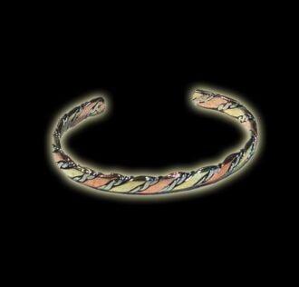 Three metals bracelets