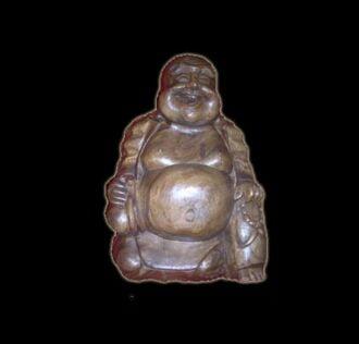 BUDHA HAPPY MAN WOOD CM 54X40