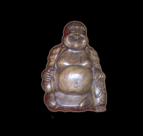 BUDHA HAPPY MAN WOOD CM 54X40
