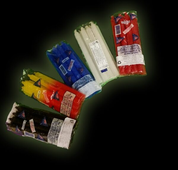 WHITE CANDLE - PACKAGE 8 PCS 19CM