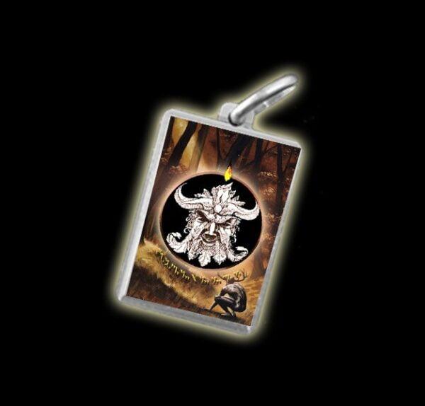 Medaglia - Immagine a colori CERNUNNOS -  argento 925