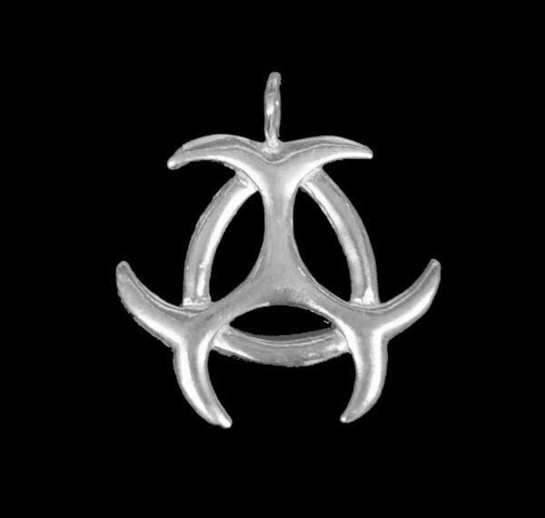 TRIAD THREE MOON PENDANT SILVER 925 GR 4.5