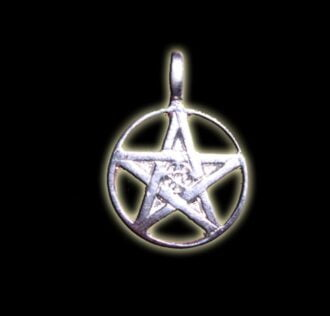 FIVE-POINTED STAR PENTAGRAM PENDANT SOLID SILVER GR 6.4