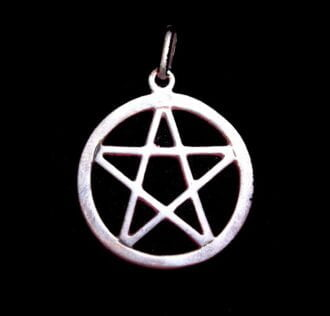 FIVE-POINTED STAR PENTAGRAM PENDANT WITH CIRCLE SILVER 925 GR 2.5