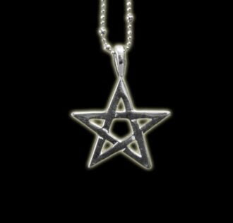 PENTAGRAM PENDANT (FIVE-POINTED STAR) SILVER 025  GR. 4