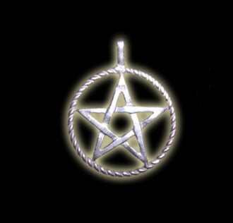 FIVE-POINTED STAR PENTAGRAM PENDANT BIG SILVER WROUGHT GR 4