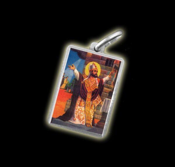 Medaglia - Immagine a colori SAN CIPRIANO -  argento 925