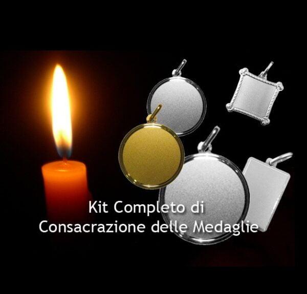 Kit Consacrazione Medaglia San Giorgio Ogum (Immagine a Cavallo) - Riferimento Codice Pon 145