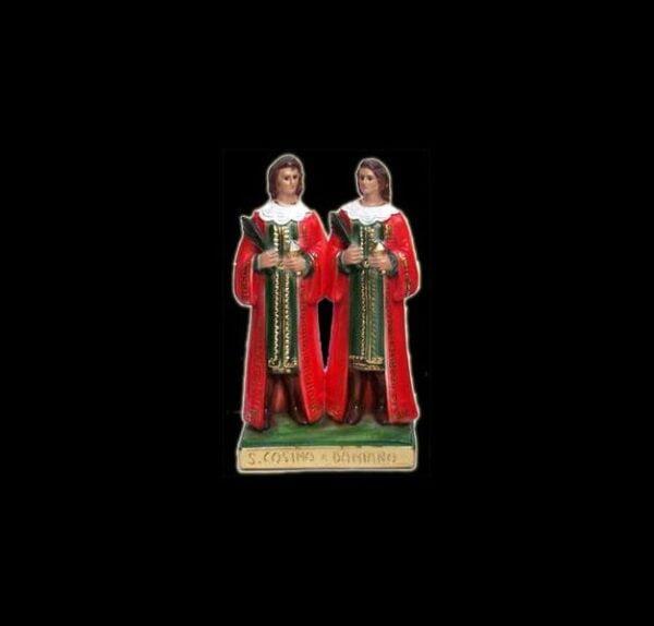 Plaster statue Santi Cosma e Damiano cm 25