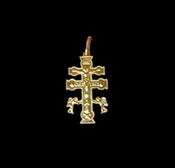 Talismano Cruz De Caravaça color oro -  cm 3,7 x 2,4