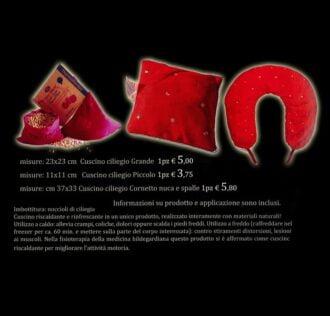 CUSCINO DEL BENESSERE CILIEGINA - CM 37 X 33