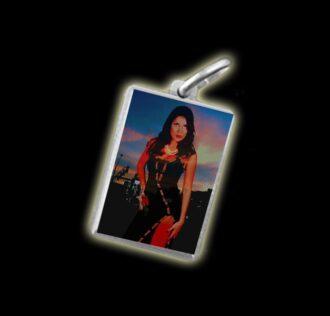 Medaglia - Immagine a colori DAMA DA NOITE -  argento 925