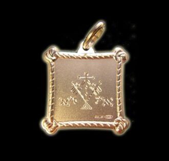 Vevè Aida Damballah Le Flammbeau medal - Silver 925