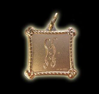 Vevè Damballah medal - Silver 925