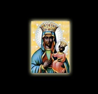 African saint Barbara - sublimation ON ALUMINUM 20 X 15 CM